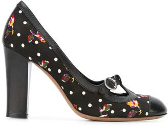 Moschino Pre-Owned floral polka dot pumps