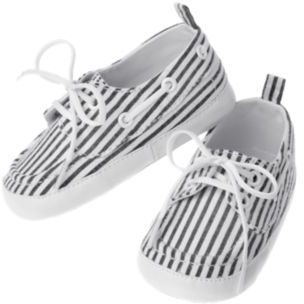 Crazy 8 Stripe Seersucker Boat Crib Shoe