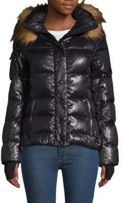 S13/Nyc Faux Fur-Trimmed Puffer Jacket