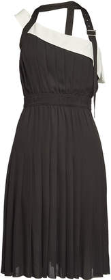 Karl Lagerfeld Paris Pleated Dress with Strap and Belt