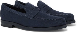 Tod's Suede Penny Loafers - Men - Blue