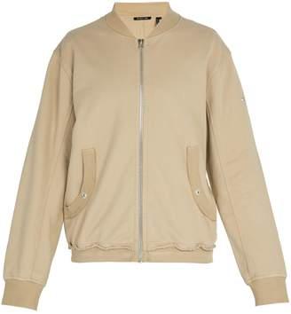Helmut Lang Distressed cotton bomber jacket