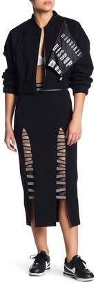 Lime & Vine Alaina High Waist Double Slit Elastic Skirt