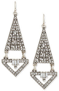 Lulu Frost Lucent Triangular Double-Drop Earrings $250 thestylecure.com
