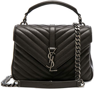e7ec8f9c83c5 Saint Laurent Medium Monogramme College Bag in Dark Anthracite