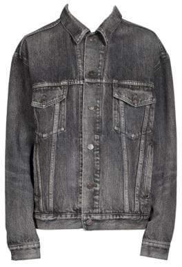 Balenciaga Embossed Denim Jacket