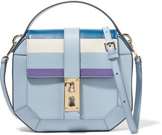 Tina Craig for Gianfranco Lotti Sling medium striped leather shoulder bag