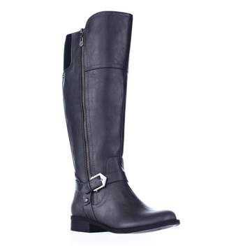 GUESS G By Womens Hailee WC Round Toe Knee High Fashion, Dark Grey, Size 7.0