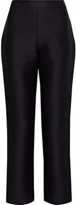 Carolina Herrera Cotton And Silk-Blend Twill Straight-Leg Pants