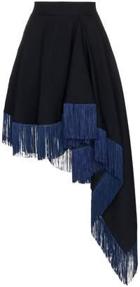 Calvin Klein asymmetric fringe skirt