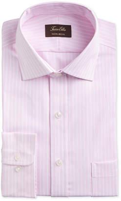 Tasso Elba Men Classic/Regular-Fit Non-Iron Supima Cotton Twill Bar Stripe Dress Shirt