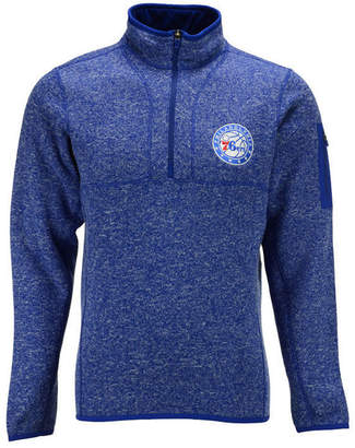 Antigua Men's Philadelphia 76ers Fortune Half-Zip Pullover