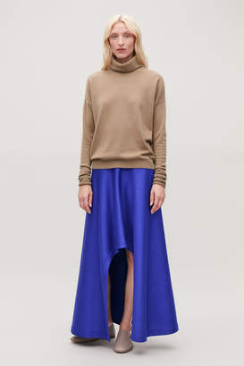 Cos CUT-OUT LONG JERSEY SKIRT