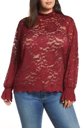 Everleigh High Neck Stretch Lace Top