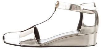 CelineCéline Metallic Wedge Sandals