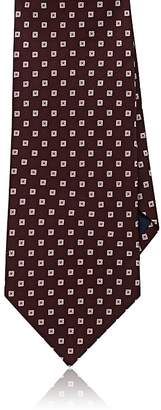 Barneys New York MEN'S NEAT BASKET-WEAVE SILK NECKTIE