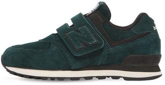 New Balance 574 Suede Strap Sneakers