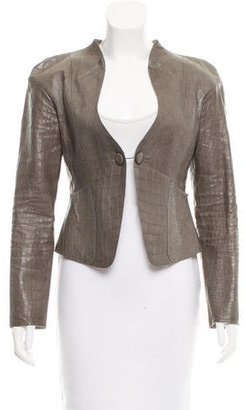 Giorgio Armani Embossed Leather Jacket $475 thestylecure.com