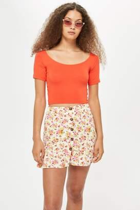 Topshop Womens Tall Crop Top - Orange