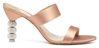 Sophia Webster Jumbo Rosalind Crystal Embellished Heel Sandals - Womens - Pink