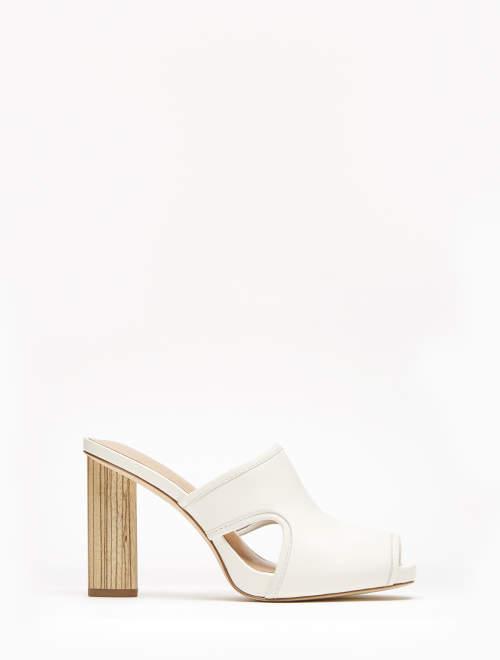 Halston Lizy Wooden High Heel Sandal
