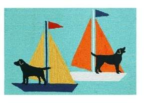 Liora Manné Frontporch Sailing Dog Indoor and Outdoor Rug