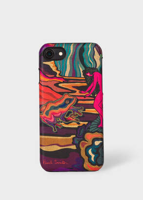 Paul Smith 'Dreamer' Print Leather iPhone 6/6S/7/8 Case