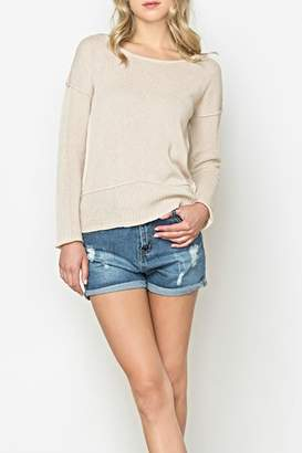 Monoreno Mur Contrast Collar Sweater