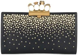 Alexander McQueen skull four-ring clutch bag