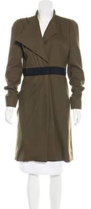 J. Mendel Gathered Wool Coat