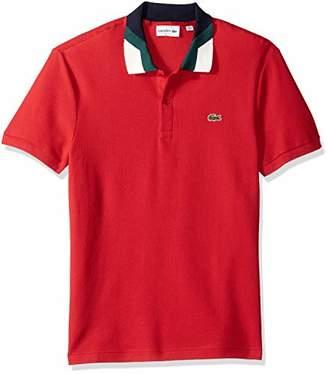 Lacoste Men's Short Sleeve Slim Fit Colorblock Collar Pique Polo