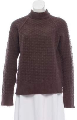 Neil Barrett Cable Knit Mock Neck Sweater