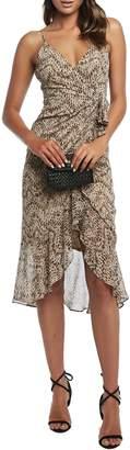 Bardot Ellie Printed Faux Wrap Dress