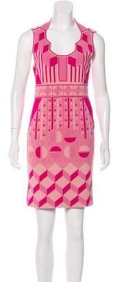 Zac Posen Printed Mini Dress