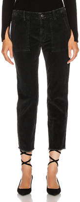 Nili Lotan Jenna Pant with Tape in Jet Black, Black & Gold | FWRD