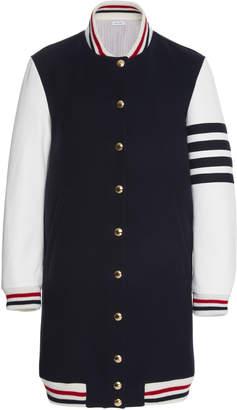 Thom Browne Elongated Wool Varsity Jacket