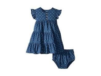 Ralph Lauren Baby Floral Flutter Sleeve Dress (Infant)