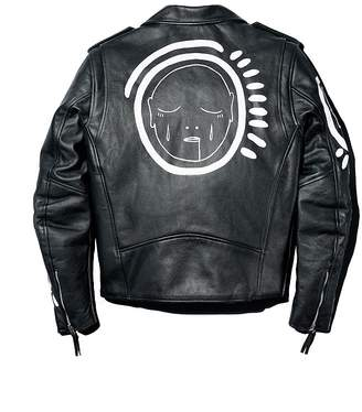 Church's PATRICK Allover Over You Hand-Painted Leather Moto Jacket - 100% Exclusive
