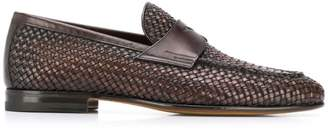 Santoni woven loafers