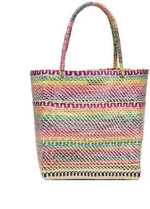 Sensi Studio multicoloured straw tote bag