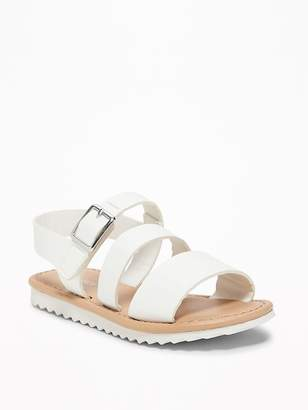 Old Navy Wide-Strappy Faux-Leather Sandals for Toddler Girls