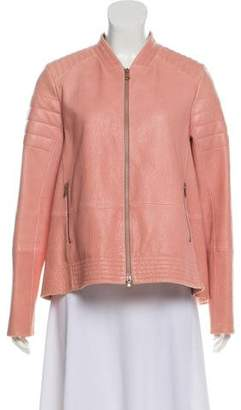 Brunello Cucinelli Leather Flared Jacket w/ Tags