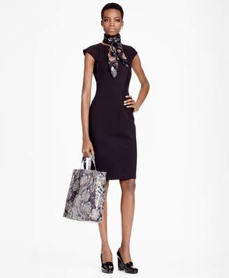 Brooks Brothers Ponte Knit Sheath Dress