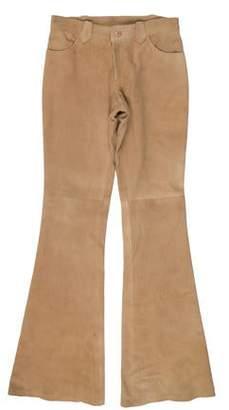 Ralph Lauren Suede Low-Rise Pants