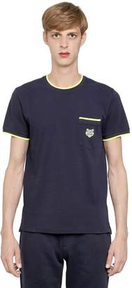 Kenzo Tiger Embroidered Cotton Piqué T-Shirt