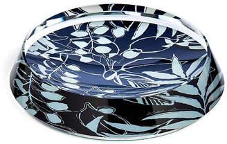 """Ralph Lauren Home 6"""" Lydia Round Trinket Tray - Blue/White"""