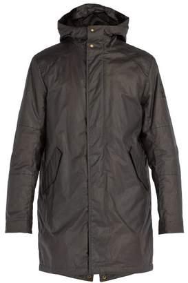 Belstaff - Chevington Waxed Cotton Hooded Parka - Mens - Dark Grey