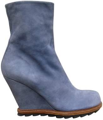 Camilla Skovgaard Blue Suede Ankle boots