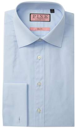 Thomas Pink Solid Slim Fit Dress Shirt