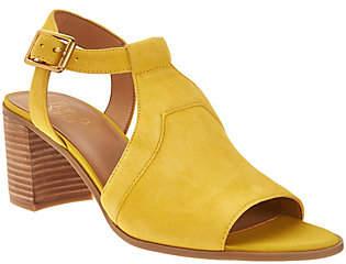 Franco Sarto T-Strap Sandals w/ Adj. AnkleStrap - Heron